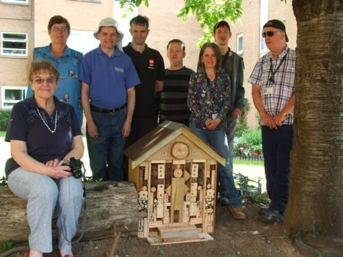Glebe House volunteers build Bug Palace for tenants association