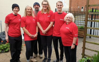 Thermo Fisher Scientific Employees Bring New Life to the Courtyard Area at Glebe House