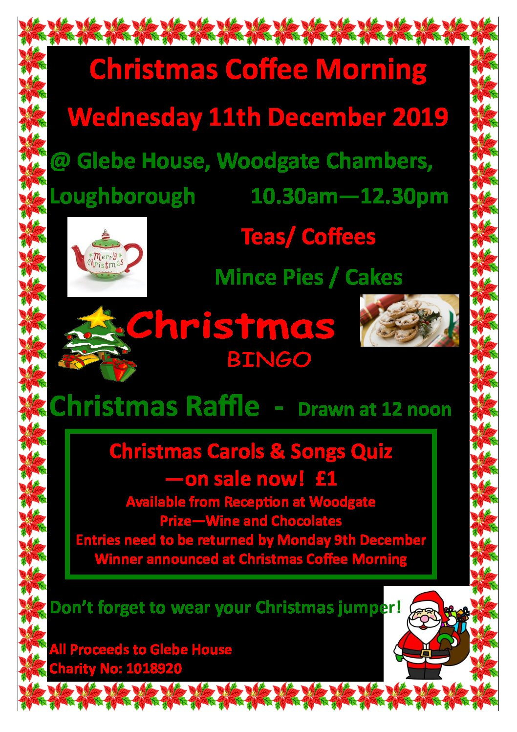 Christmas Coffee Morning in aid of Glebe House