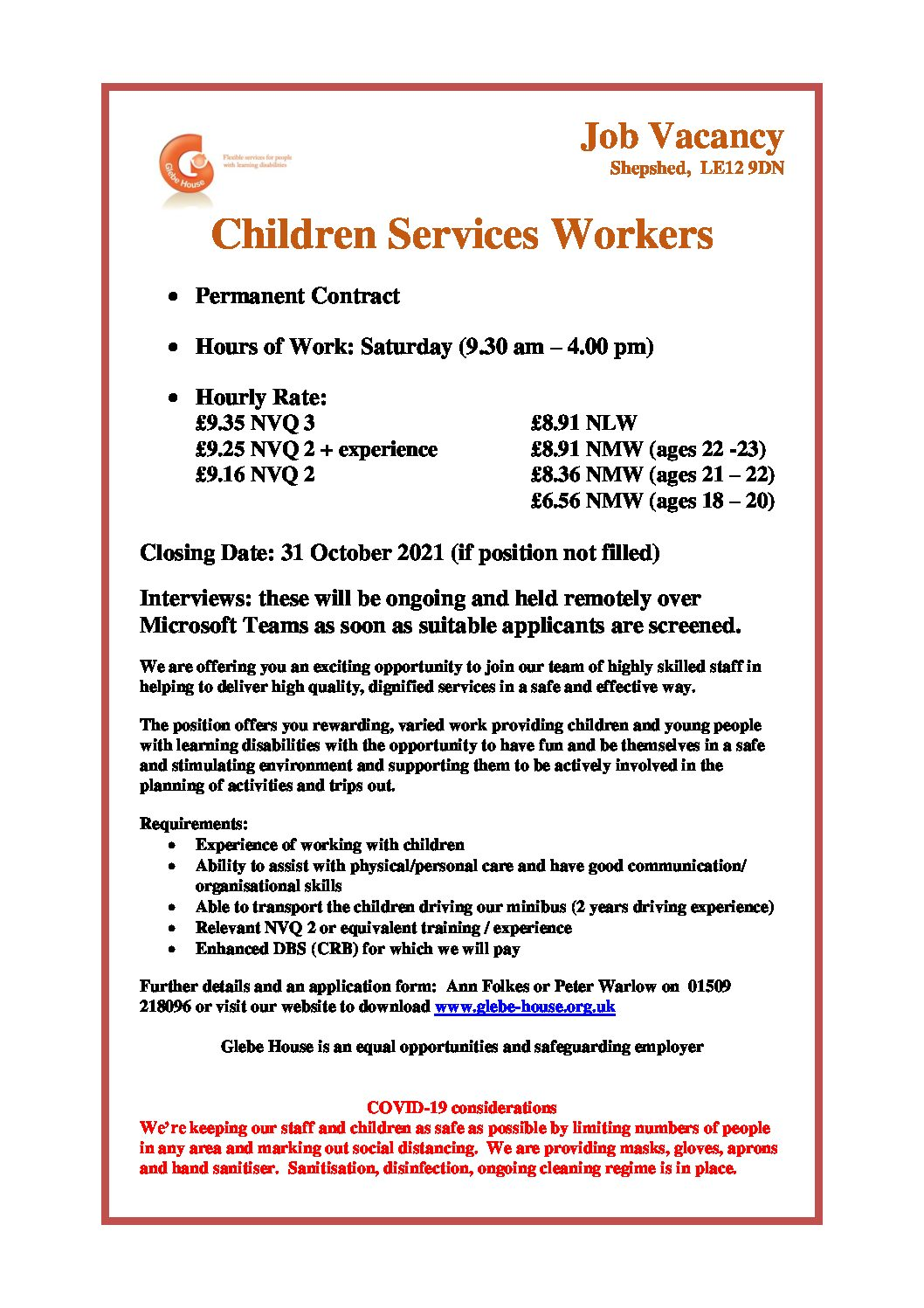 Children Services Support Workers