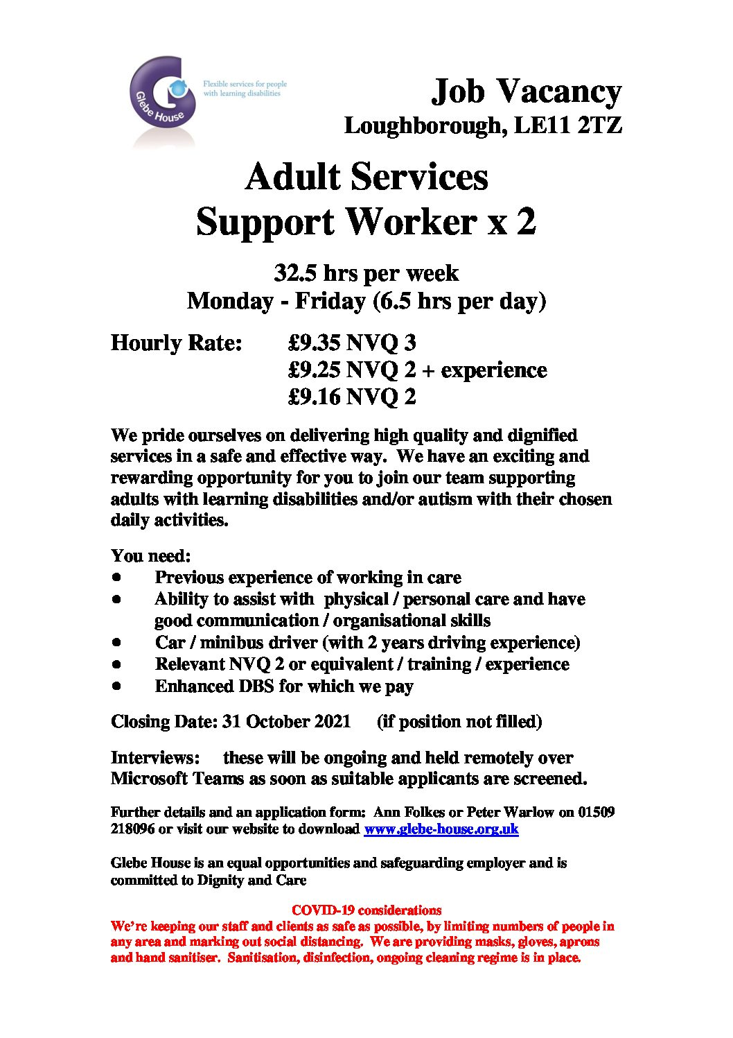 Adult Services Support Worker